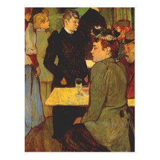 Esquina de Enrique Lautrec- en el Moulin de la Gal Tarjeta Postal