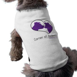 Esquina de la camisa del perro de la amabilidad playera sin mangas para perro