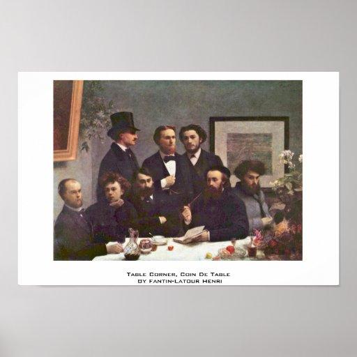Esquina de la tabla, Coin De Table By Fantin-Latou Poster