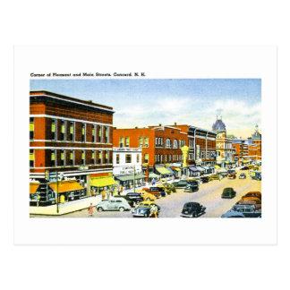 Esquina de las calles agradables y principales, tarjetas postales