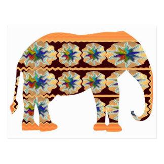 Esquina de los niños - elefante pintado postales