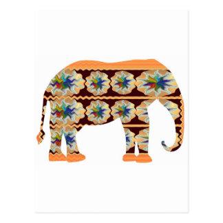 Esquina de los niños - elefante pintado tarjetas postales