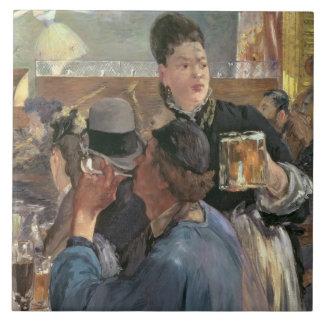 Esquina de un Café-Concierto, 1878-80 Azulejo Cuadrado Grande