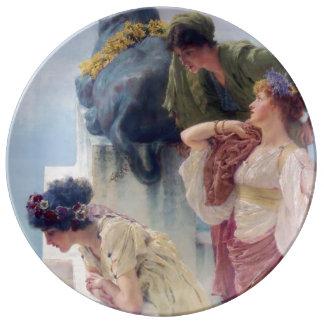 Esquina de ventajoso de Lawrence Alma-Tadema Plato De Cerámica
