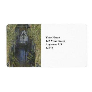 Esquina del apartamento de Claude Monet Etiquetas De Envío