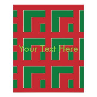 "Esquina del color rojo/verde (MG) Folleto 4.5"" X 5.6"""