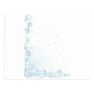 Esquina del copo de nieve postal