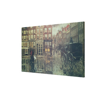 Esquina del cuadrado de Leidsche, Amsterdam Lienzo Envuelto Para Galerias