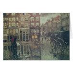 Esquina del cuadrado de Leidsche, Amsterdam Tarjeta De Felicitación