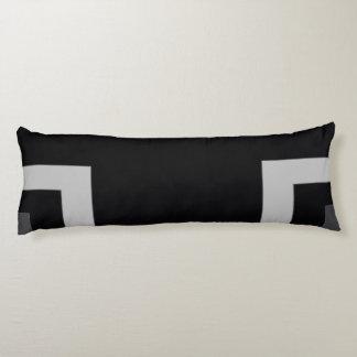 Esquina negra/gris del color (MB) Cojin Cama