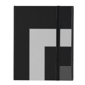Esquina negra/gris del color (MB) iPad Cárcasas