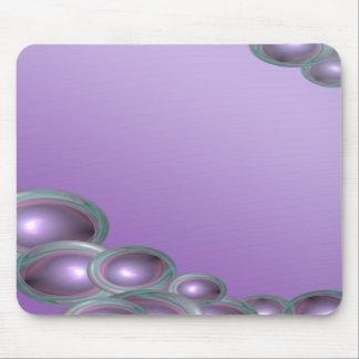 Esquina púrpura de la burbuja alfombrilla de ratones