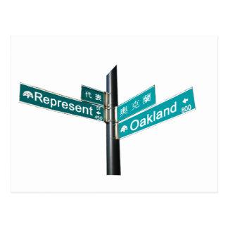Esquina Represent y de Oakland Tarjeta Postal