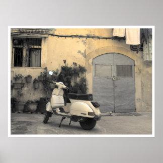 Esquina siciliana típica impresiones