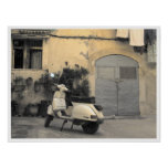 Esquina siciliana típica póster