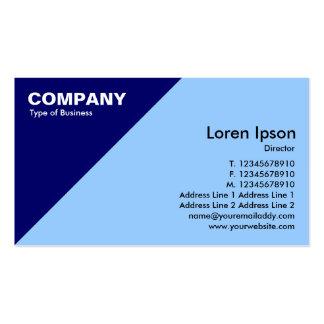 Esquina triangular azul marino - azul claro tarjetas de visita