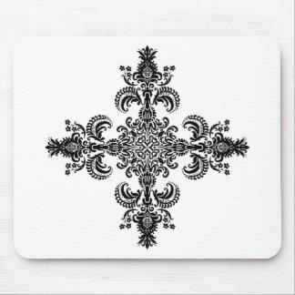 Esquinas de la meditación 4 de la flor de lis mouse pad