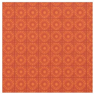Esquinas plisadas, tela del Naranja-Zazzle Telas