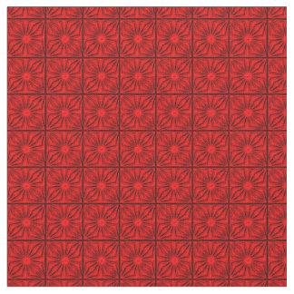 Esquinas plisadas, tela Roja-Zazzle Telas