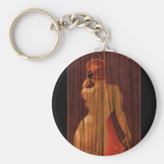 Esquire cartoon illustration Pin Up Art Keychain