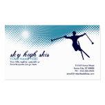 esquís altísimos plantillas de tarjeta de negocio