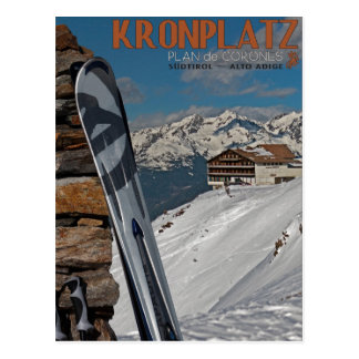 Esquís de Kronplatz Postal
