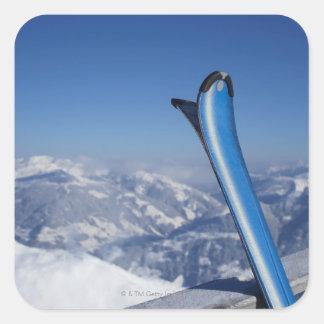 Esquís de reclinación pegatina cuadrada