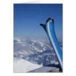 Esquís de reclinación tarjeta de felicitación