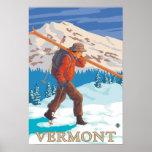 Esquís que llevan de VermontSkier Impresiones