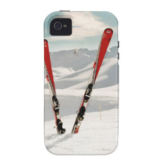 Esquís rojos iPhone 4 fundas