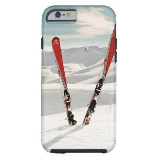 Esquís rojos funda para iPhone 6 tough