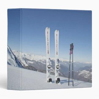 """Esquís y esquí postes carpeta 1 1/2"""""""