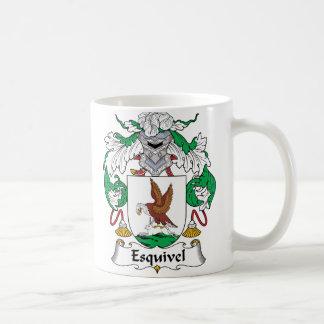 Esquivel Family Crest Mugs