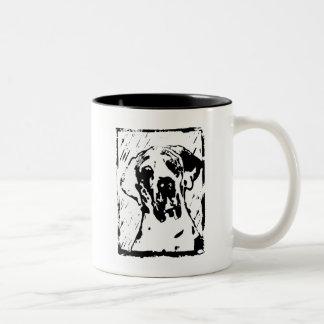 Esra Harlekin Great Dane Two-Tone Coffee Mug