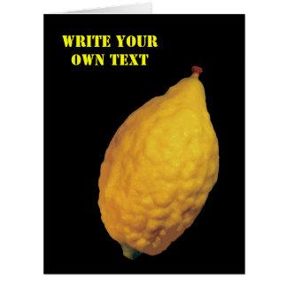 Esrog - Etrog - Write Your Own Text Large Greeting Card