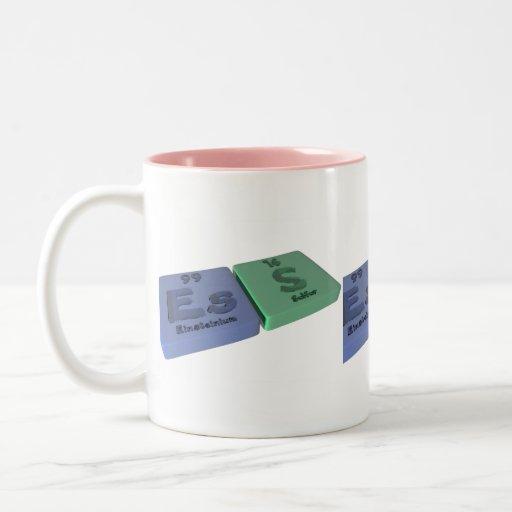 Ess-Es-S-Einsteinium-Sulfur Two-Tone Coffee Mug