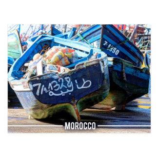 Essaouira - Arabic Boats, Morocco Postcard