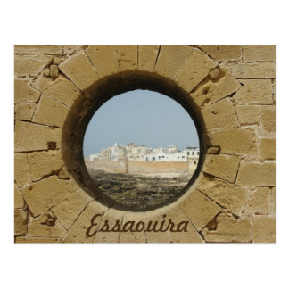 Essaouira city wall view postcard