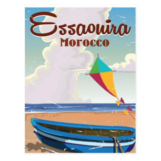 Essaouira Morocco Vintage travel poster print Postcard