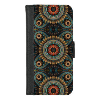 Essaouira Turquoise Abstract Mandala iPhone 8/7 Wallet Case