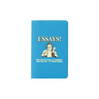 Essays: Steal 1 Plagiarism 2 Genius Pocket Moleskine Notebook
