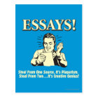 Essays: Steal 1 Plagiarism 2 Genius Postcard