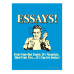 Essays: Steal 1 Plagiarism 2 Genius Postcard