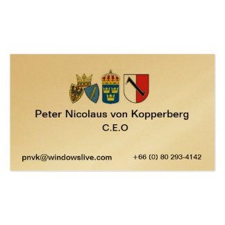 essen 1, sweden, Peter Nicolaus ... Business Card Templates