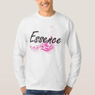 Essence Artistic Name Design with Flowers T-shirts