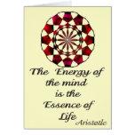 *Essence de Life* - la cita de Aristóteles Tarjeta De Felicitación