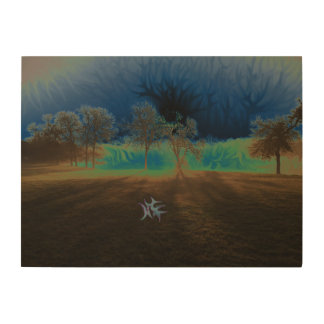Essence in Fog Wood Wall Art