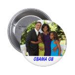 essence-magazine-the-obama-family-2, OBAMA 08 2 Inch Round Button