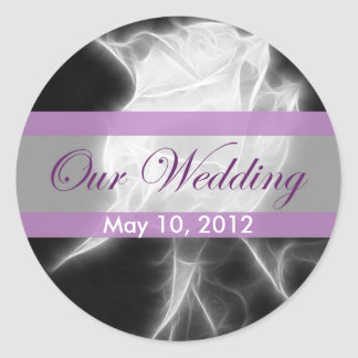 Essence of a Rose 2 Our Wedding Classic Round Sticker