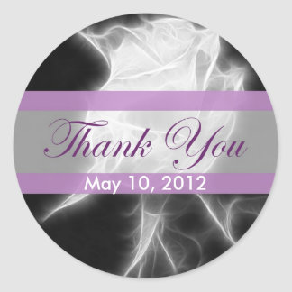 Essence of a Rose 2 Thank You Classic Round Sticker